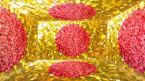 Glitter Room Gold Star 2 4k Animation