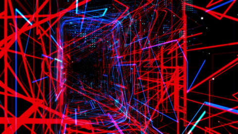 Laser Network Tunnel Light 03 Stock Video Footage