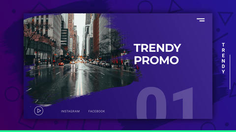 Trendy Modern Promo After Effects Template
