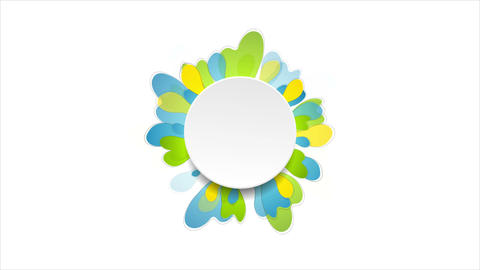 Bright spring abstract flower video animation CG動画素材