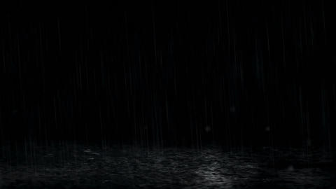 Rain With Puddles Animation