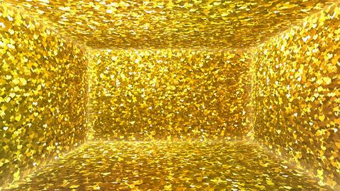 Glitter Room Gold Heart 1 4k Animation