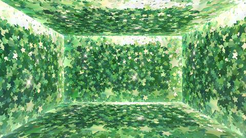 Glitter Room Green Star 1 4k Animation