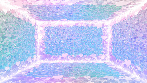 Glitter Room Violet Heart 2 4k Animation