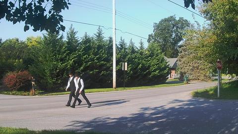 Amish Transportation Type Amish Boys Walking Footage