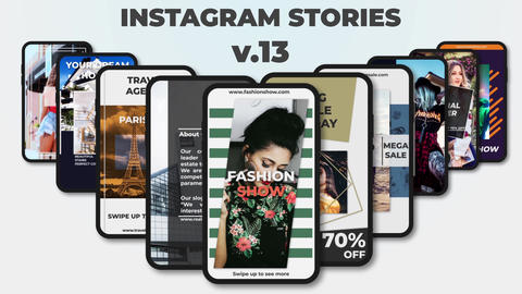 Instagram Stories v 13 After Effectsテンプレート