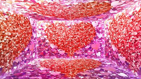 Glitter Room Pink Heart 2 4k Animation