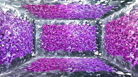 Glitter Room Pink Heart 3 4k Animation