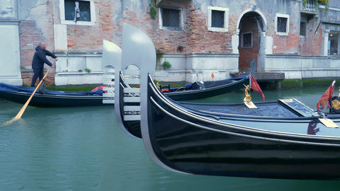 Navigating Venice's Canal Footage