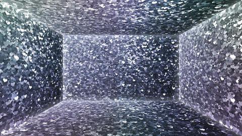 Glitter Room Silver Heart 1 4k Animation