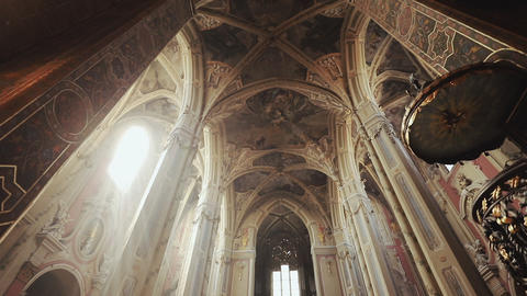 Old Architecture Church in Ukraine city Lvov Footage