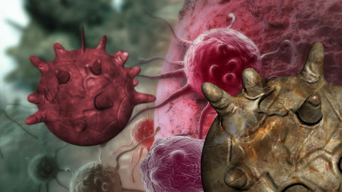 Animation Of A Damaged And Disintegrating Cancer Cell Animation