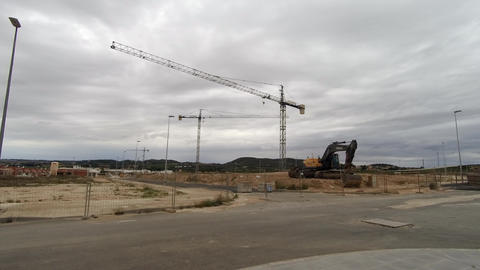 Building site in Spain 4K Footage