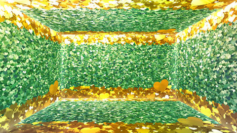 Glitter Room Green Heart 3 4k Animation