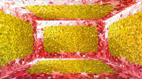 Glitter Room Red Star 2 4k Animation