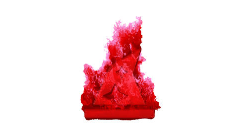 Symbol hat wizard inflames with dark fire, then burns. In - Out loop. Alpha channel Premultiplied - Animación