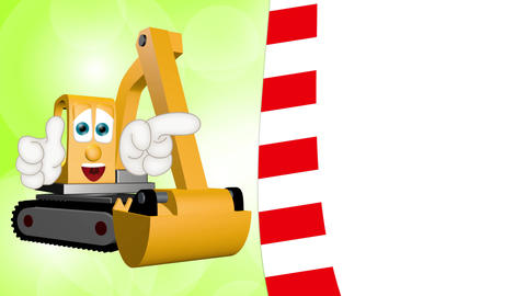 Cartoon Excavator Animation Pack