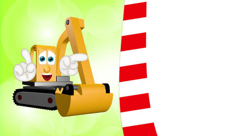 Cartoon Excavator Animation Pack 1