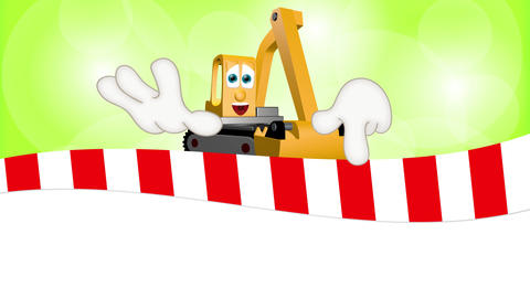 Cartoon Excavator Animation Pack 2