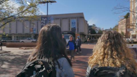 CHAPEL HILL, NC, USA - CIRCA NOV 2018 - Three students... Stock Video Footage
