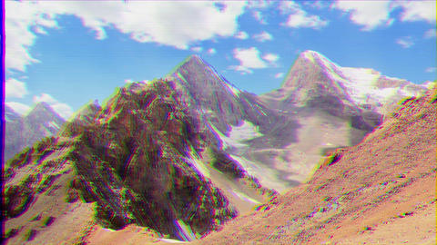 Glitch effect. Peak Energy and Chimtarga. Time Lapse. Fans, Tajikistan Archivo