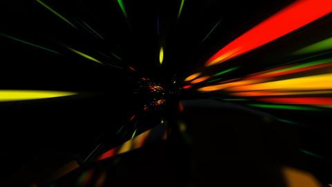 Spaceship Flying Through a Space Vortex in Light Speed Seamless Loop Archivo