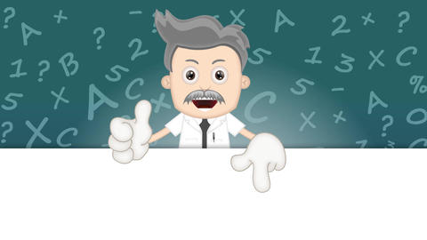 Cartoon Scientist Animation Pack 0