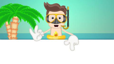 Cartoon Summer Holiday Animation Pack