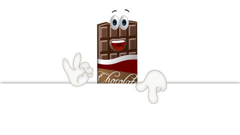Funny Cartoon Chocolate Animation Pack 0