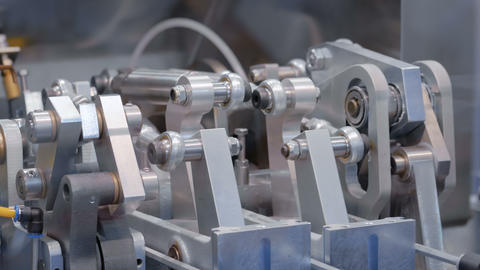 Moving parts of industrial automotive machine tool equipment Footage