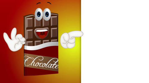 Funny Cartoon Chocolate Animation Pack 1