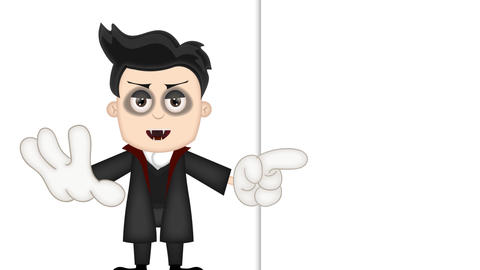 Ben Boy Funny Cartoon Character Toon Vampire with empty background Animation