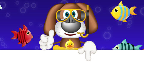 Funny Cartoon Dog Summer Holiday Animation Pack 0