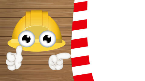Funny Construction Helmet Cartoon Animation Pack