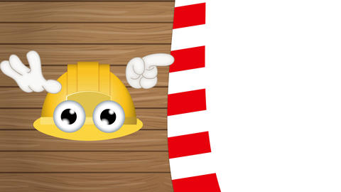 Funny Construction Helmet Cartoon Animation Pack 2