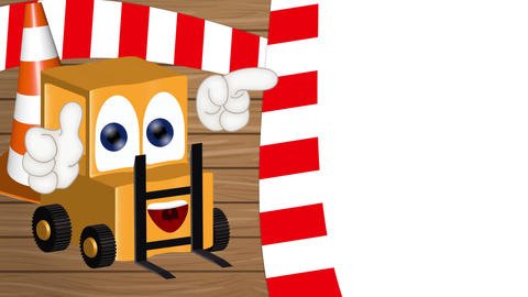 Funny Cartoon Forklift Animation Pack