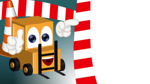 Funny Cartoon Forklift Animation Pack 0