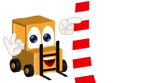 Funny Cartoon Forklift Animation Pack 1