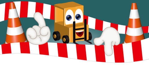 Funny Cartoon Forklift Animation Pack 2
