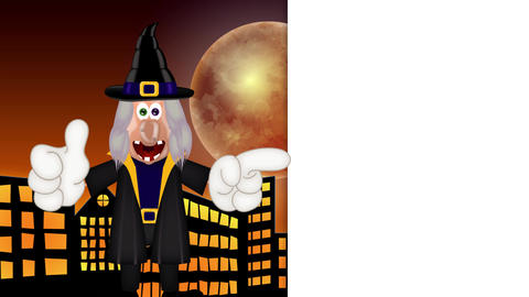 Witch - Funny Halloween Cartoon Character Animation Pack