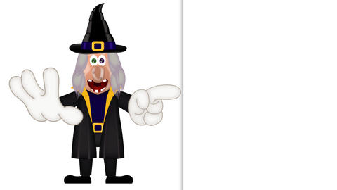 Witch - Funny Halloween Cartoon Character Animation Pack 0