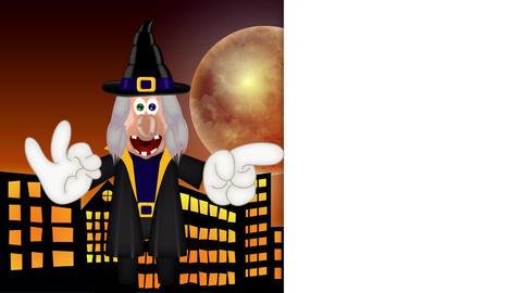 Witch - Funny Halloween Cartoon Character Animation Pack 1