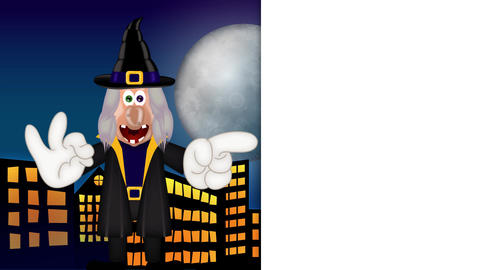 Witch - Funny Halloween Cartoon Character Animation Pack 2