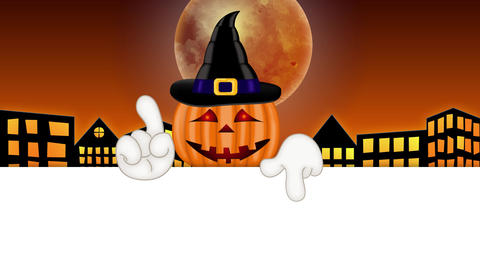 Pumpkin - Funny Halloween Cartoon Character Animation Pack 0