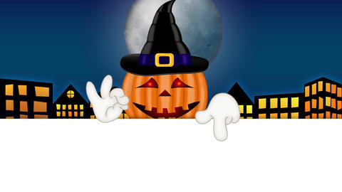 Pumpkin - Funny Halloween Cartoon Character Animation Pack 1