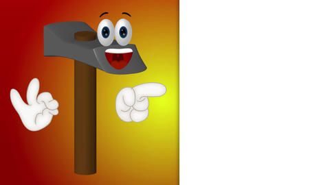Hammer - Funny Cartoon Character Animation Pack