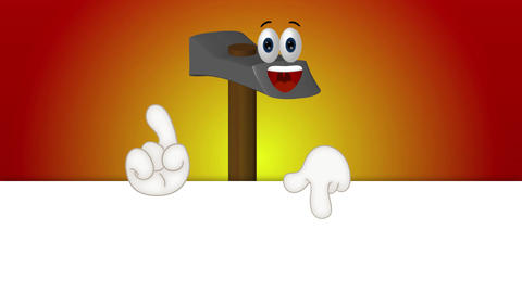 Hammer - Funny Cartoon Character Animation Pack 0