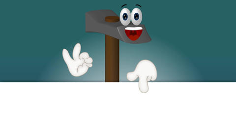 Hammer - Funny Cartoon Character Animation Pack 1