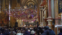 Vienna, Austria Stephansdom Saint Stephen Cathedral interior during mass GIF