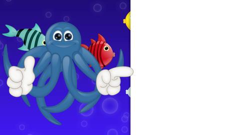 Cartoon Squid Octopus Animation Pack 0